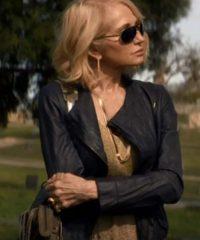 Animal Kingdom Ellen Barkin Black Leather Jacket