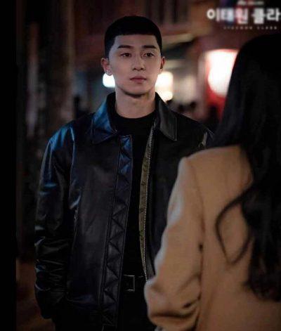 park-seo‑joon-itaewon-class-black-leather-jacket