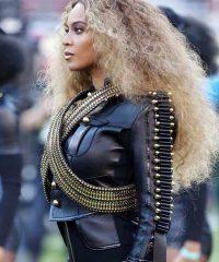 Pepsi Super Bowl 50 Halftime Show Beyonce Leather Jacket