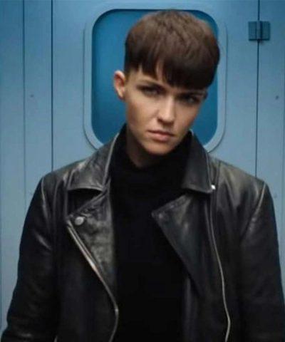 SAS: Red Notice Grace Lewis Black Leather Jacket