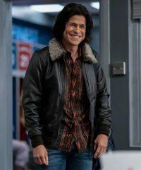 Ted Lasso S02 Dani Rojas Black Leather Jacket