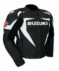Suzuki-Motorcycle-Black-Racing-Leather-Jacket
