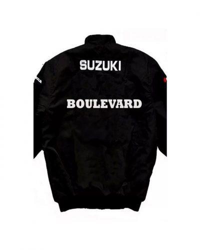 black-suzuki-boulevard-motorcycle-textile-racing-jacket