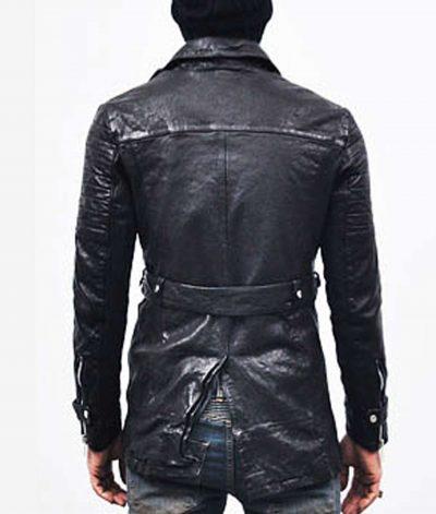 mens-biker-mid-length-belted-black-trench-coat