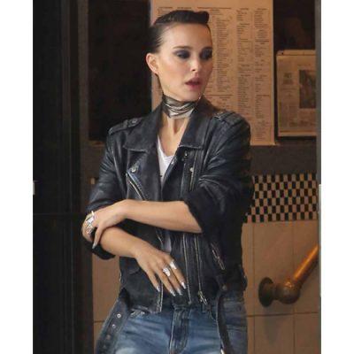 natalie-portman-vox-lux-black-leather-jacket